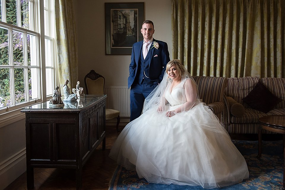 Bride and Groom Portrait at Goldstone Hall, Heart Weddings
