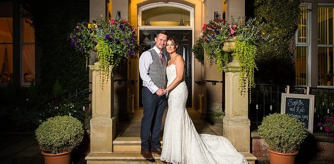 Bride and Groom at Rodbaston hall Heart Weddings